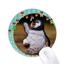 Creature Antarctic Cute Penguin Science Nature Mouse Pad Jingling Bell Round Rubber Mat