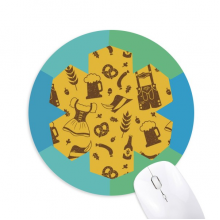 Germany Berlin Culture Custom  Pattern Round Rubber Mat Blue Snowflake Office Mouse Pad