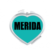 Merida Venezuela City Hand Mirror Heart Portable Pocket Makeup
