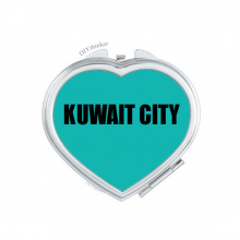 Kuwait City Kuwait City Hand Mirror Heart Portable Pocket Makeup