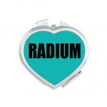 Radium Element Name Chemistry Hand Mirror Heart Portable Pocket Makeup