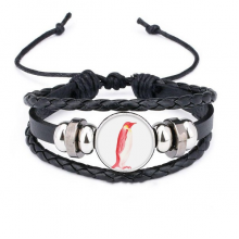 IUCN Endangered Animals Red Emperor Penguin Bracelet Braided Leather Woven Rope Wristband