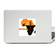 Africa Map Savanna Elephant Wildlife Decal Vinyl Skin Laptop Sticker PC Decoration