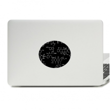 Black Chemical Molecular Structure Illustration Vinyl Emblem Graphic Laptop Sticker Notebook Decal