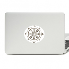 Buddhism Religion Buddhist Rudder Round Vinyl Skin Laptop Sticker Notebook Decal