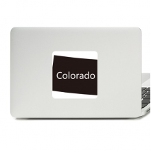 Colorado America USA Map Silhouette Decal Vinyl Skin Laptop Sticker PC Decoration