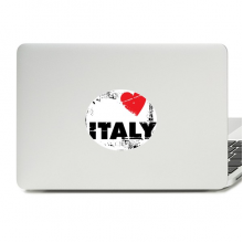 I Love Italy Word Love Heart Square Vinyl Skin Laptop Sticker Notebook Decal