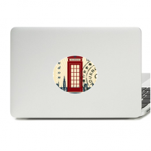 London Telephone Booth Stamp UK Country City Vinyl Emblem Graphic Laptop Sticker Notebook Decal