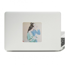 Lily Flower Beauty Chinese Painting Decal Vinyl Paster Laptop Sticker PC Decoration
