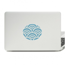 Pattern Wave Japanese Traditional Edo Vinyl Skin Laptop Sticker Notebook Decal