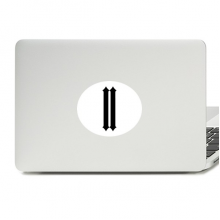 Roman numerals Two In Black silhouette Vinyl Emblem Graphic Laptop Sticker Notebook Decal