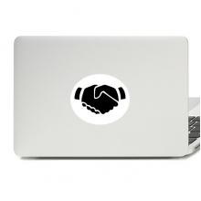 Shake Hands Gesture Silhouette Pattern Vinyl Skin Laptop Sticker Notebook Decal