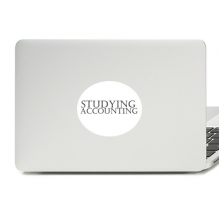 Short Phrase Studying Accounting Vinyl Skin Laptop Sticker Notebook Decal