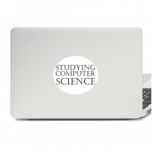 Short Phrase Studying Computer Science Vinyl Skin Laptop Sticker Notebook Decal