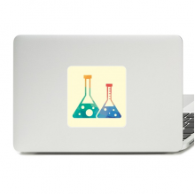Two Conical Flasks Chemistry Pattern Decal Vinyl Skin Laptop Sticker PC Decoration