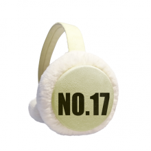Lucky No.17 Number Name Winter Warm Ear Muffs Faux Fur Ear