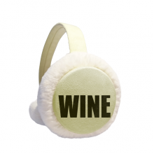 Wine Color Name Winter Warm Ear Muffs Faux Fur Ear