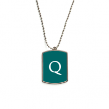 Currency Symbol Guatemala Quetzal GTQ Stainless Steel Chain Dog Tag Pendant Pet Necklace