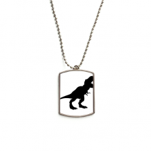 Dinosaur Bones Tyrannosaurus Rex Stainless Steel Chain Dog Tag Pendant Pet Necklace