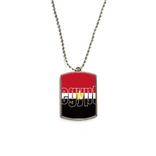 Egypt Country Flag Name Stainless Steel Dog Tag Pendant Necklace