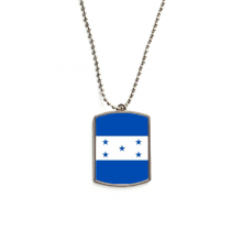 Honduras National Flag North America Country Stainless Steel Chain Dog Tag Pendant Pet Necklace