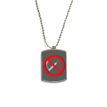 Logo No Smoking Stainless Steel Chain Dog Tag Pendant Pet Necklace