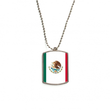 Mexico National Flag North America Country Stainless Steel Dog Tag Pendant Necklace