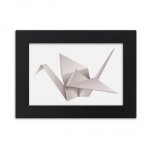 Geometric Origami Abstract Crane Pattern Desktop Photo Frame Black Picture Art Painting 7x9 inch