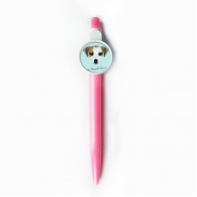 Jack Russell Terrier Dog Pet Animal Rollerball Tip Blue Retractable Pen Write Stationery