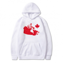 Red Maple Leaf Symbol Canada Country Map Sweatshirt Pullover Fleece Hoodie Sweater Sport