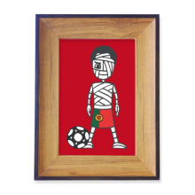Portuguese Soccer Player Mummy Cartoon Photo Frame Exhibition Display Art Desktop Painting