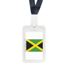 Made In Jamaica Country Love Transparent Card Shell Holder Cace Sleeve Badge