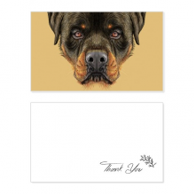 Black Ferocious Rottweiler Dog Pet Animal Thank You Card Birthday Wedding Business Message Set