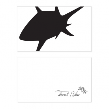 Blue Ocean Black Shark Biology Pattern Thank You Card Birthday Wedding Business Message Set