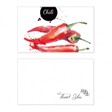 Chili Vegetable Tasty Healthy Watercolor Thank You Card Birthday Wedding Business Message Set