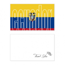 Ecuador Country Flag Name Thank You Card Birthday Wedding Business Message Set