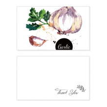 Garlic Vegetable Tasty Healthy Watercolor Thank You Card Birthday Wedding Business Message Set