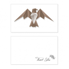 Geometric Abstract Eagle Origami Pattern Thank You Card Birthday Wedding Business Message Set