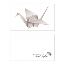 Geometric Origami Abstract Crane Pattern Thank You Card Birthday Wedding Business Message Set