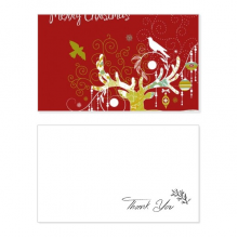 Merry Chistmas Deer Thank You Card Birthday Paper Greeting Wedding Appreciation