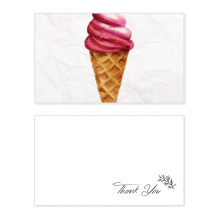 Red Watercolor Sweet Ice Cream Thank You Card Birthday Paper Greeting Wedding Appreciation