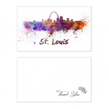 St.Louis America City Watercolor Thank You Card Birthday Wedding Business Message Set