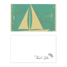 Sport Sailing Illustration Blue Pattern Thank You Card Birthday Wedding Business Message Set