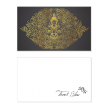 Thai Symmetrical Gold Foil Illustration Thank You Card Birthday Wedding Business Message Set
