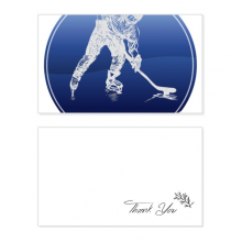 Winter Sport Skating and Ice Hockey Watercolor Thank You Card Birthday Wedding Business Message Set