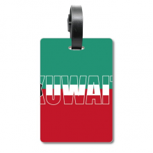 Kuwait Country Flag Name Suitcase Bag Tag Luggage Card Hanging Scutcheon Label