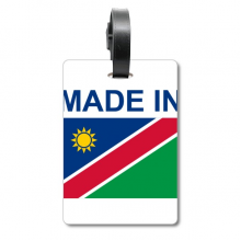 Made In Namibia Country Love Suitcase Bag Tag Luggage Card Hanging Scutcheon Label