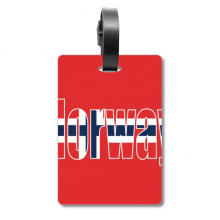Norway Country Flag Name Suitcase Bag Tag Luggage Card Hanging Scutcheon Label