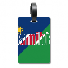 Namibia Country Flag Name Suitcase Bag Tag Luggage Card Hanging Scutcheon Label