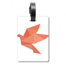 Origami Red Bird Abstract Pattern Suitcase Bag Tag Luggage Card Hanging Scutcheon Label